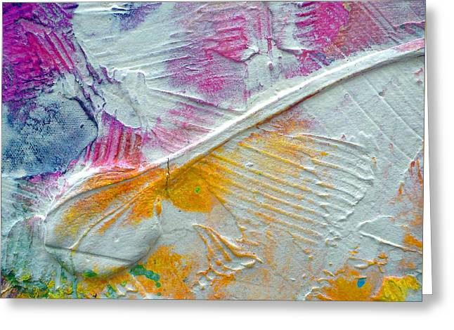 Greeting Card featuring the painting Abstract 1 by Tracy Bonin