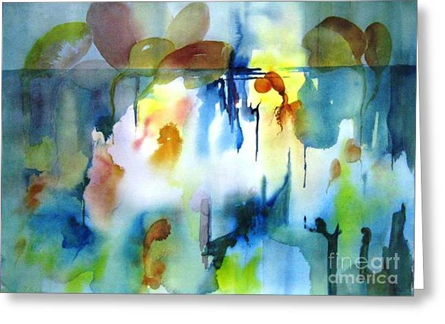 Abstract  10 Greeting Card by Maryann Schigur