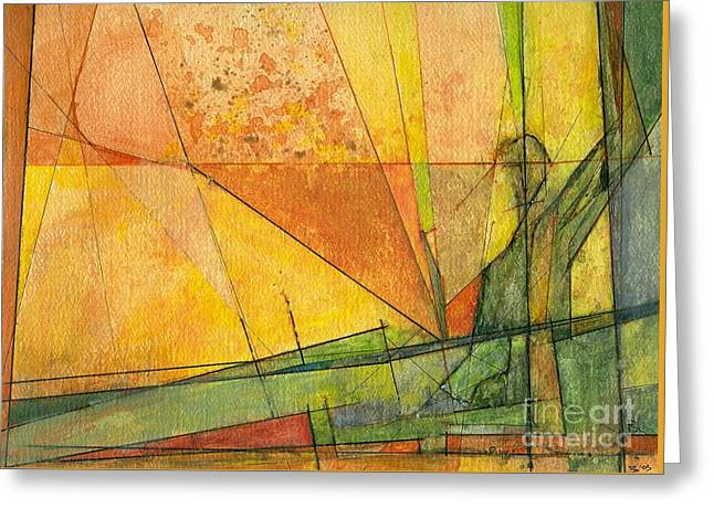 Abstract #11 Greeting Card by Robert Anderson