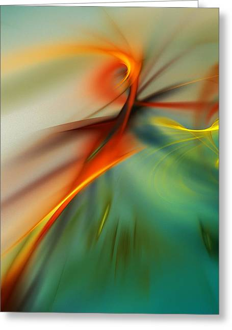 Abstract 110910b Greeting Card by David Lane