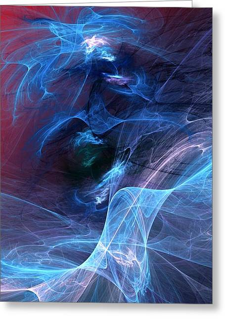 Abstract 111610 Greeting Card by David Lane