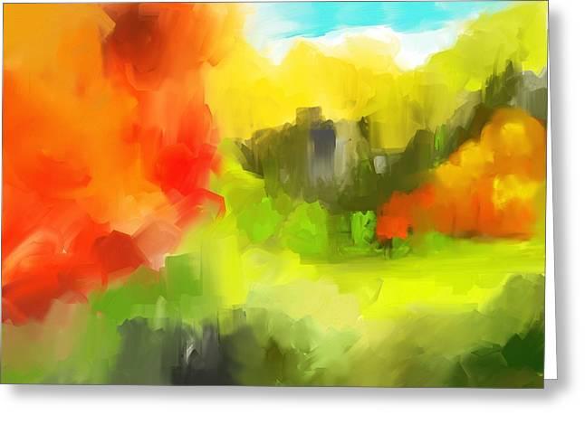 Abstract 112210 Greeting Card by David Lane