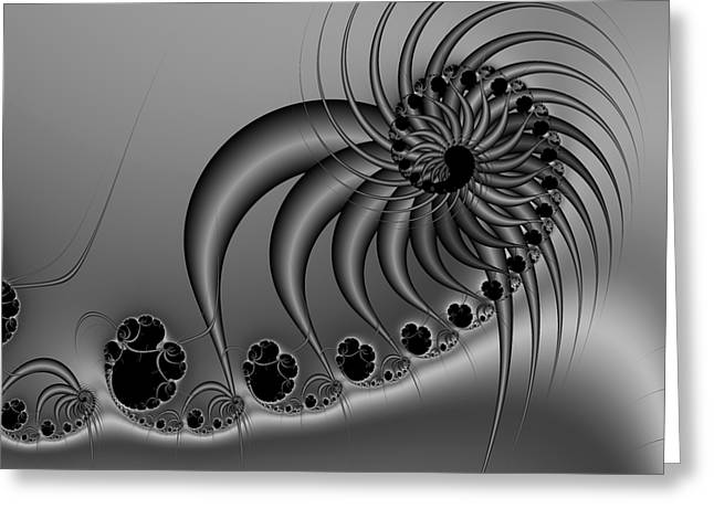 Abstract 118 Bw Greeting Card by Rolf Bertram