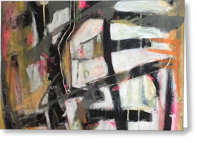 Abstract 1230-16 Greeting Card by Shelley Graham Turner