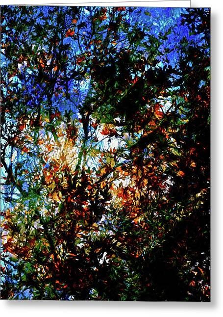 Abstract 126 Greeting Card by Pamela Cooper