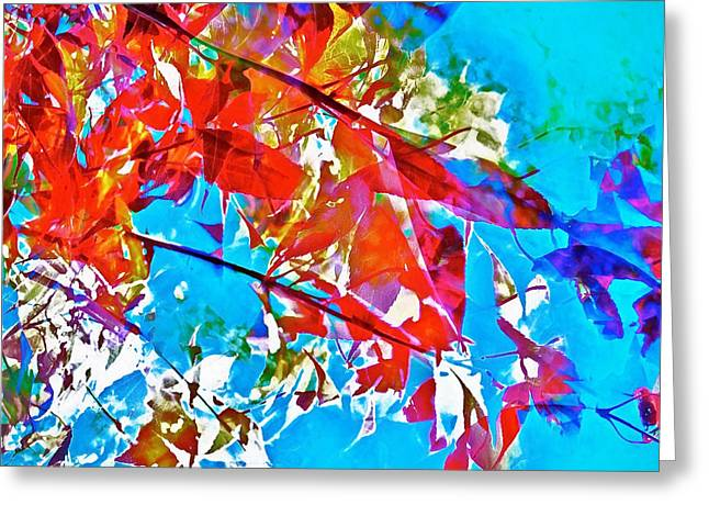 Abstract 128 Greeting Card by Pamela Cooper