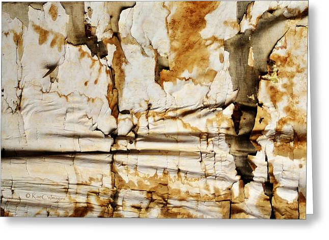 Greeting Card featuring the photograph Abstract 1317 Old Wallpaper As Landscape by Kae Cheatham