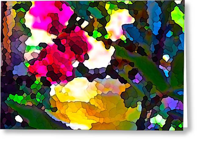Abstract 140 Greeting Card by Pamela Cooper