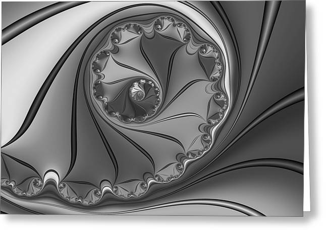 Abstract 156 Bw Greeting Card by Rolf Bertram