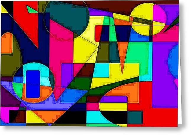 Greeting Card featuring the digital art Abstract 2 by Timothy Bulone