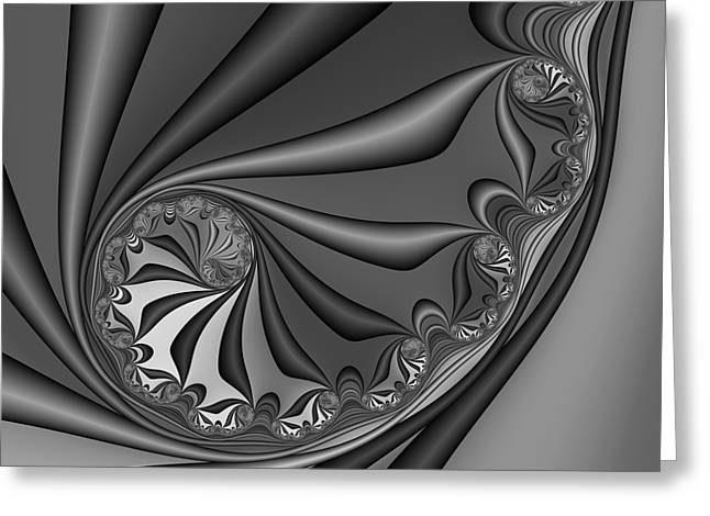 Abstract 209 Bw Greeting Card by Rolf Bertram