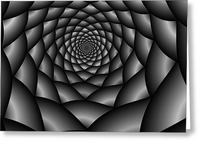Abstract 219 Bw Greeting Card by Rolf Bertram