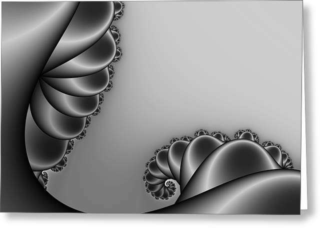 Abstract 226 Bw Greeting Card by Rolf Bertram