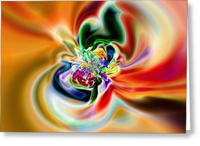 Abstract 237 Greeting Card by Rolf Bertram