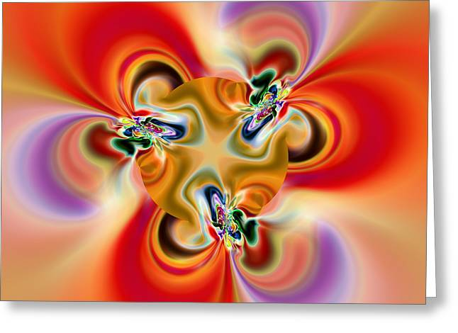 Abstract 238 Greeting Card by Rolf Bertram