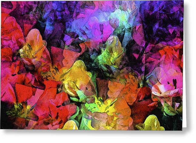 Abstract 267 Greeting Card by Pamela Cooper