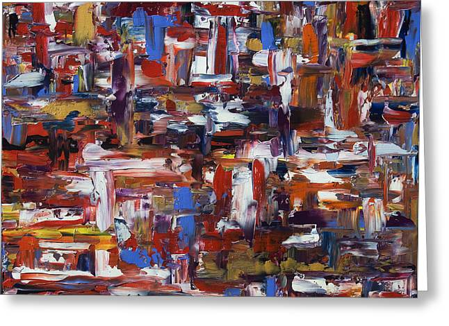 Abstract 28965 Greeting Card by Brad Rickerby