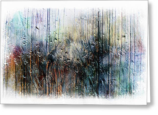 2f Abstract Expressionism Digital Painting Greeting Card