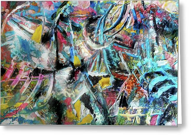 Abstract 301 - Encaustic Greeting Card