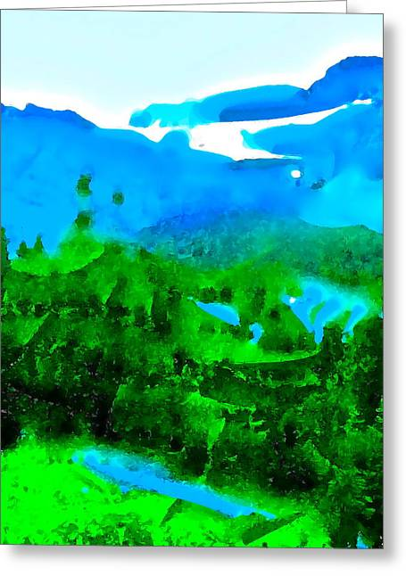 Abstract 31 Greeting Card by Pamela Cooper