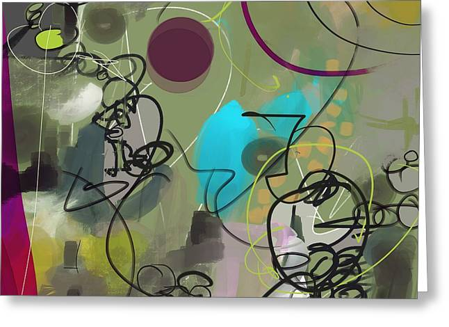 Abstract #31315 Greeting Card