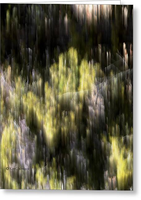 Greeting Card featuring the photograph Abstract 3317 In The Forest by Kae Cheatham