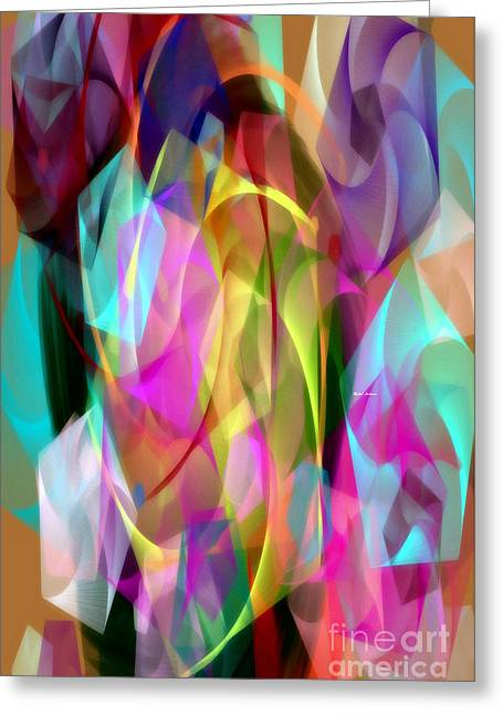 Greeting Card featuring the digital art Abstract 3366 by Rafael Salazar