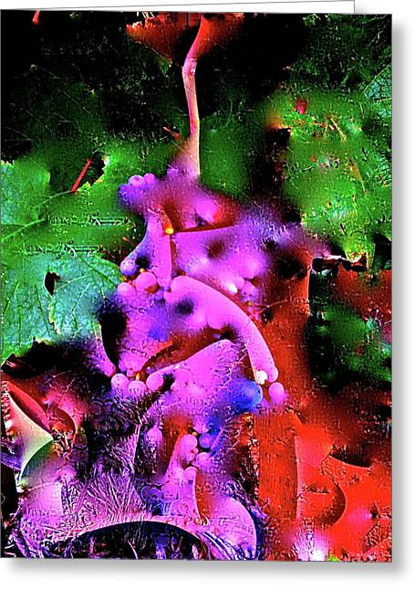 Abstract 35 Greeting Card by Pamela Cooper