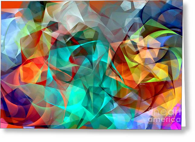 Greeting Card featuring the digital art Abstract 3540 by Rafael Salazar