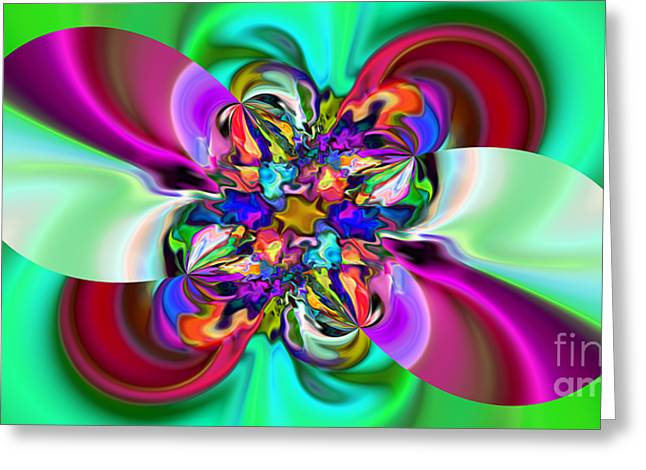 Abstract 368 Greeting Card by Rolf Bertram