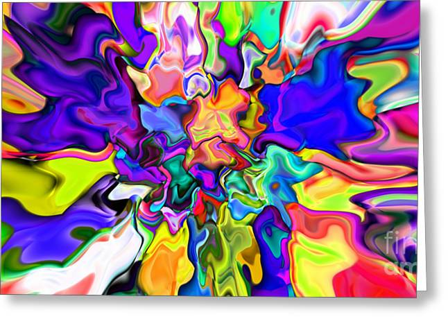 Abstract 370 Greeting Card by Rolf Bertram