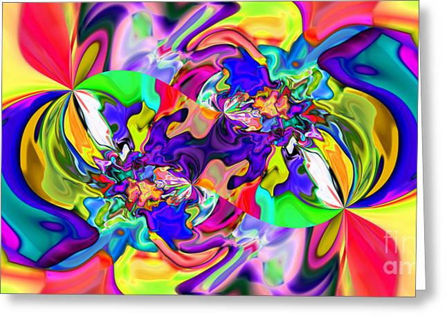 Abstract 371 Greeting Card by Rolf Bertram