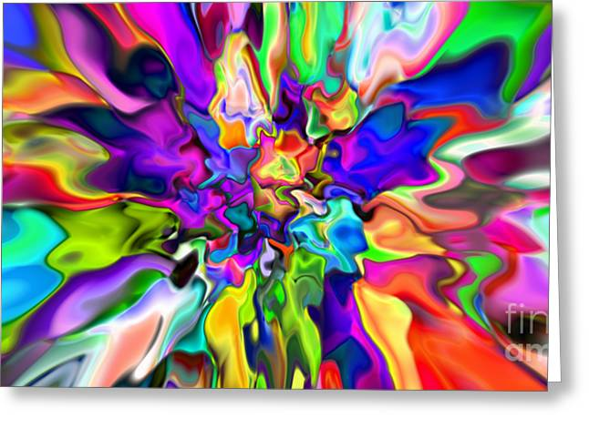 Abstract 373 Greeting Card by Rolf Bertram