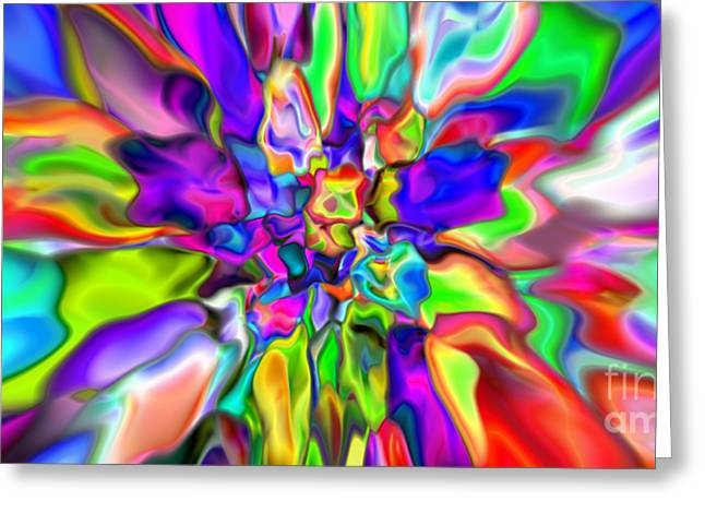 Abstract 376 Greeting Card by Rolf Bertram