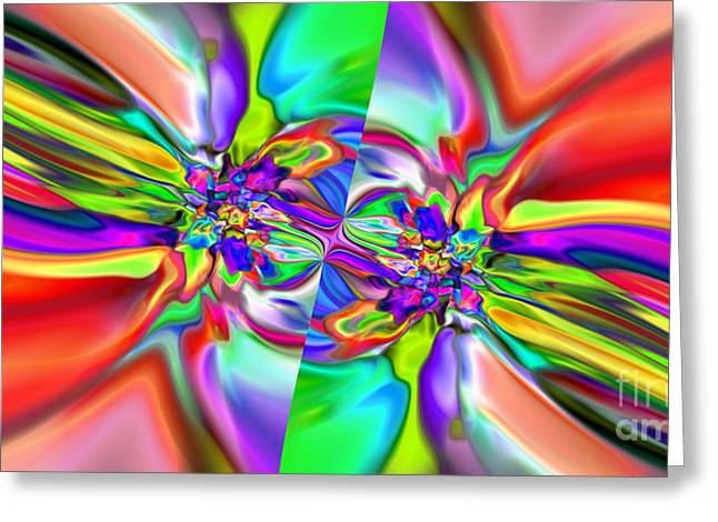 Abstract 377 Greeting Card by Rolf Bertram