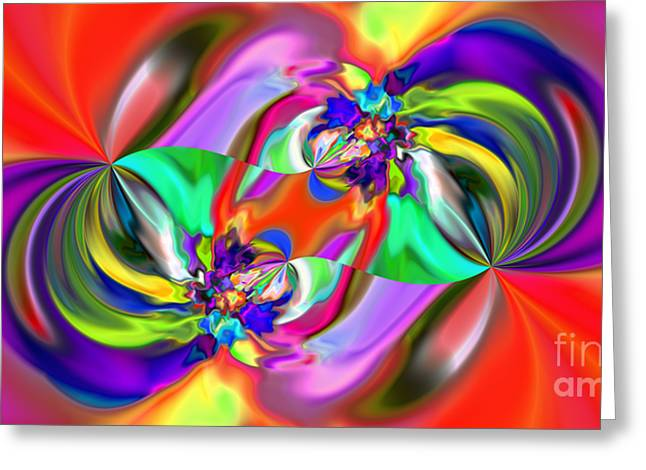 Abstract 380 Greeting Card by Rolf Bertram