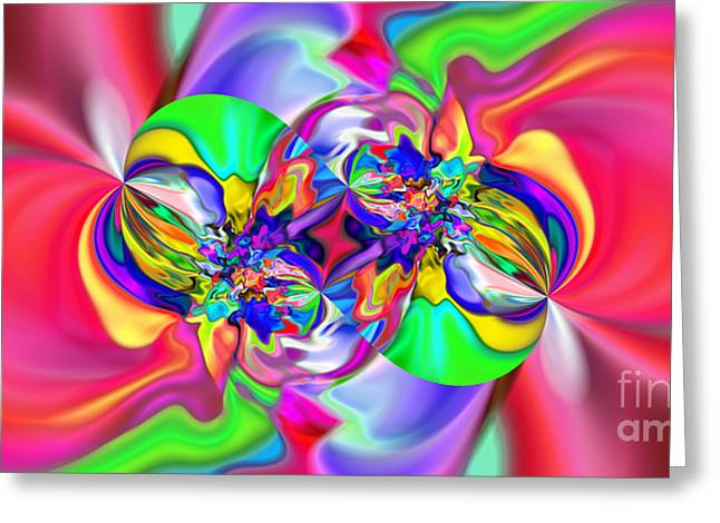 Abstract 383 Greeting Card by Rolf Bertram