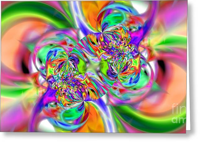 Abstract 386 Greeting Card by Rolf Bertram