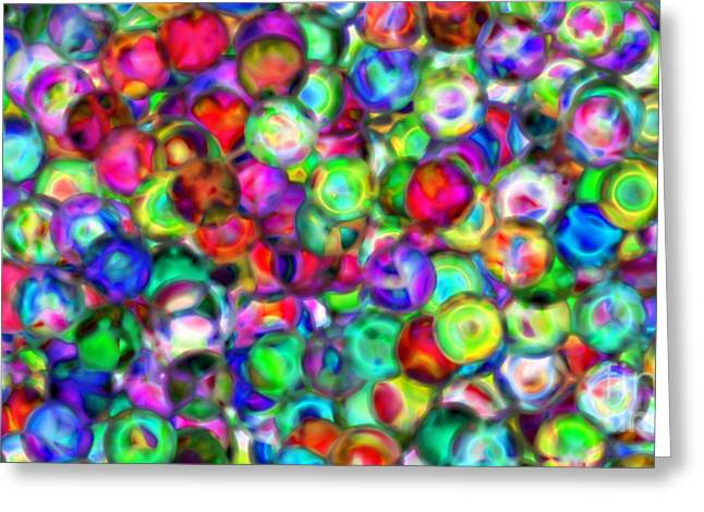 Abstract 390 Greeting Card by Rolf Bertram