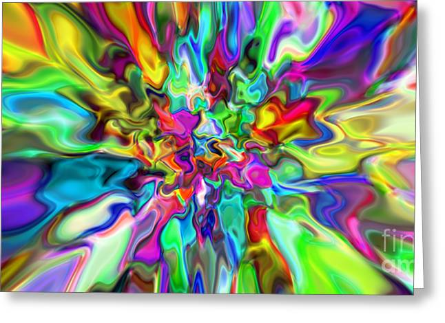 Abstract 394 Greeting Card by Rolf Bertram