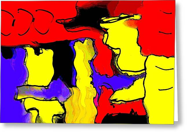 Abstract 4 Greeting Card by Paulo Guimaraes