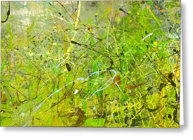 Abstract #42515b Or Marsh Life Greeting Card