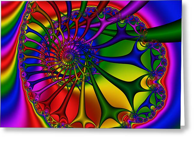 Abstract 524 Greeting Card by Rolf Bertram