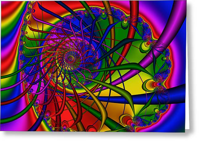 Abstract 526 Greeting Card by Rolf Bertram