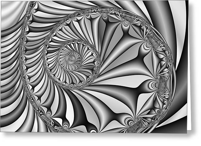 Abstract 527 Bw Greeting Card by Rolf Bertram