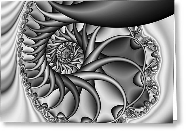 Abstract 529 Bw Greeting Card by Rolf Bertram
