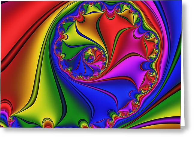 Abstract 534 Greeting Card by Rolf Bertram