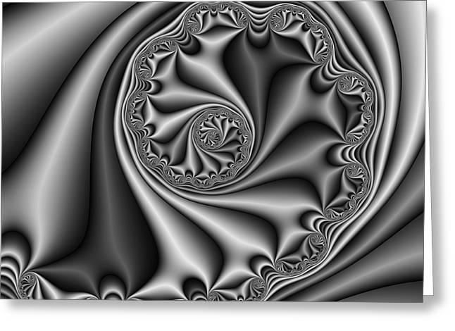 Abstract 536 Bw Greeting Card by Rolf Bertram