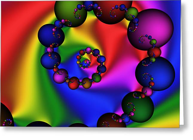 Abstract 537 Greeting Card by Rolf Bertram