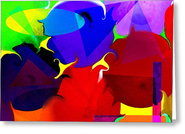 Greeting Card featuring the digital art Abstract 6 by Timothy Bulone